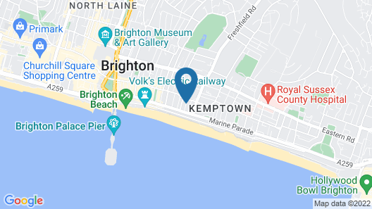 Brighton Surf Guest House Map