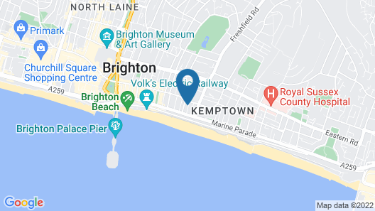 The Brighton Penthouse Map