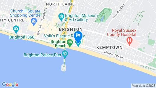 Legends Hotel Brighton Map