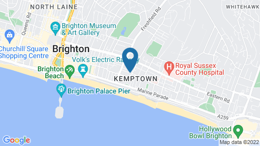 Brighton Inn Boutique Guest Accommodation Map