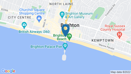 Royal Albion Hotel Map