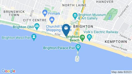 Jurys Inn Brighton Waterfront Map