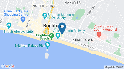 The Charm Brighton Boutique Hotel and Spa Map