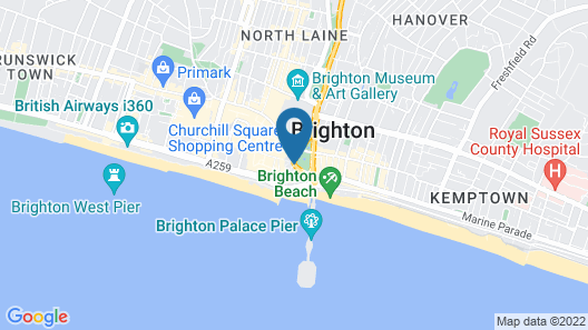 YHA Brighton - Hostel Map