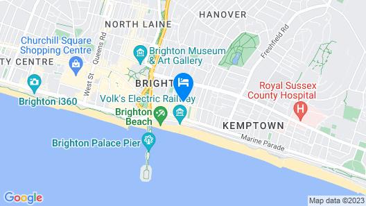 Kemptown Central - Brighton Getaways Map