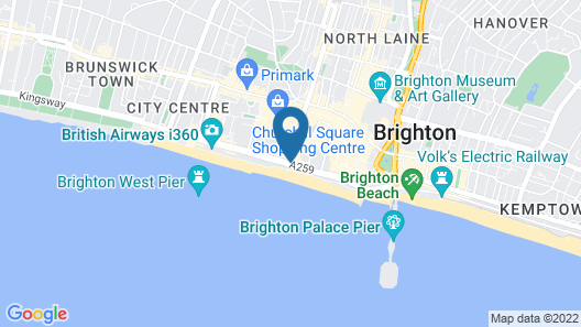 Brighton Harbour Hotel & Spa Map