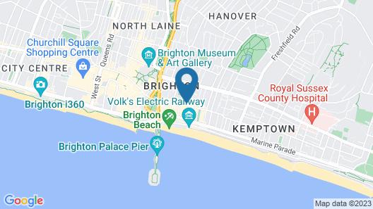 The Loft Brighton Map