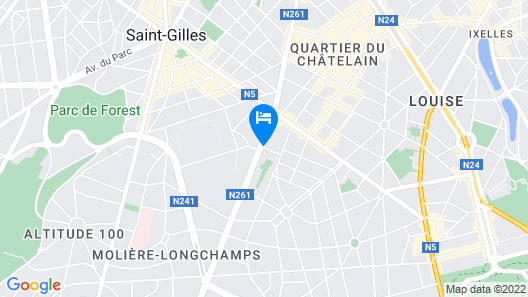 Hotel Catalonia Brussels Map