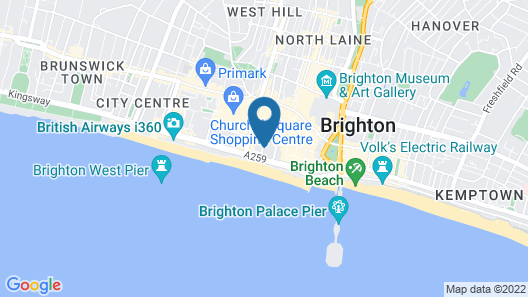The Grapevine Seafront - Hostel Map