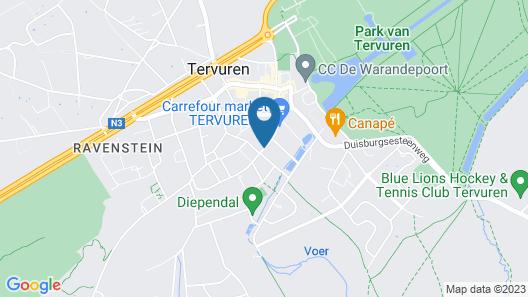 Hotel Rastelli Tervuren Map