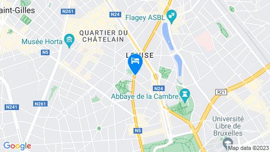 Ibis Brussels Centre Châtelain Map