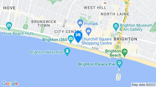 Hilton Brighton Metropole Map