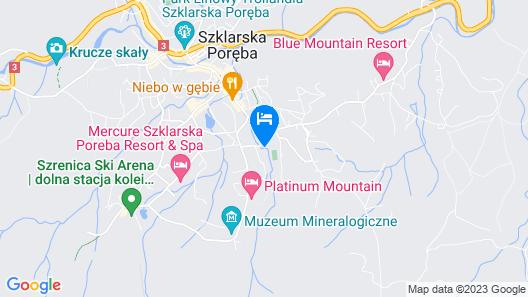 Hotel Na Skarpie w Szklarskiej Porębie Map