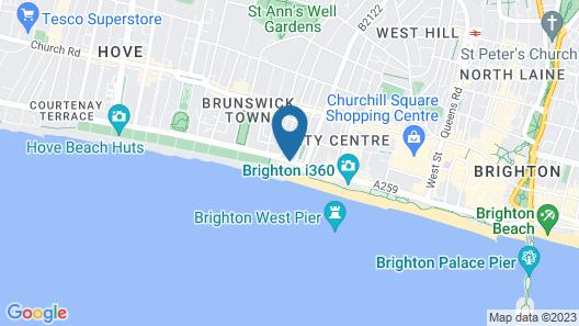 Mercure Brighton Seafront Hotel Map