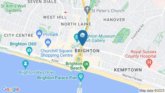 Kipps Brighton Hostel Map