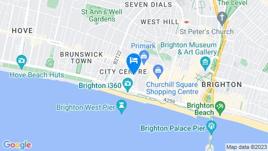 Artist Residence Brighton Map