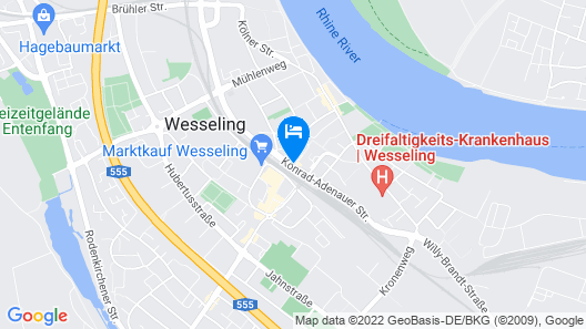 Hotel Central Wesseling Map