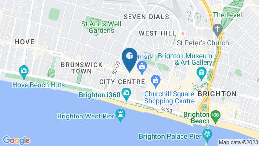 Britannia Study Hotel Map