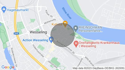W05 Ferienwohnung Wesseling am Rheinufer mit Großem TV und W-lan Map