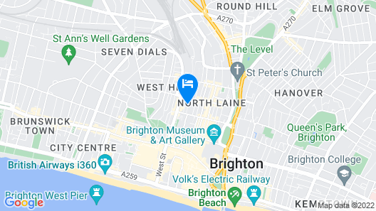 Brighton Getaways - Sunny Cottage Map