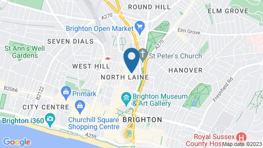 Brighton Getaways-Majestic Mews Map