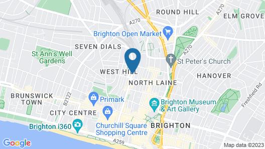 ibis Brighton City Centre - Station Map