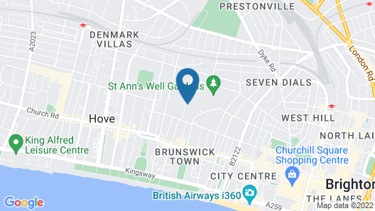 Brighton Getaways - Brunswick Fab Pad Map
