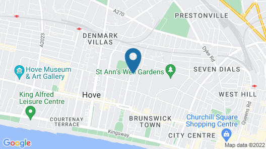 Flat in Great Central Hove Palmeira Location Map