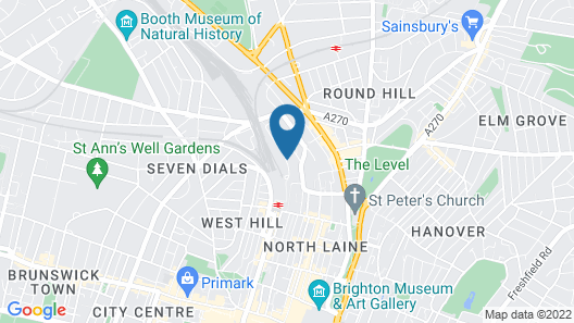 Jurys Inn Brighton Map