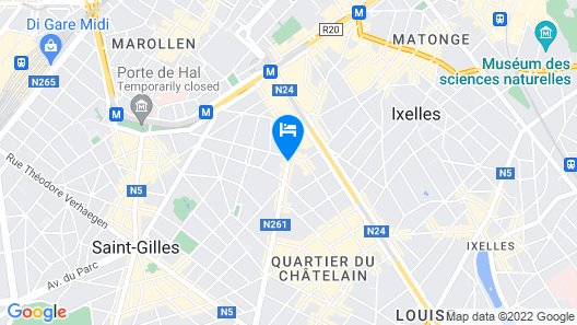 pentahotel Brussels City Centre Map