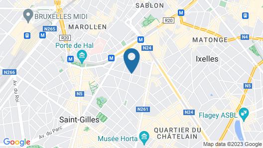 The Scott Hotel Brussels Map
