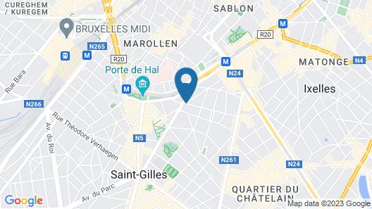 Hilton Garden Inn Brussels City Centre Map