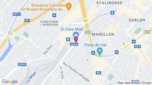 Park Inn by Radisson Brussels Midi Map