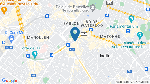 Hotel Sofitel Brussels Le Louise Map