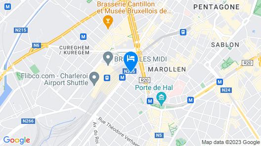 B&B Hotel Brussels Centre Gare du Midi Map