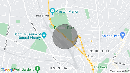 Modern 1 Bedroom Apartment With Balcony By Preston Park Map