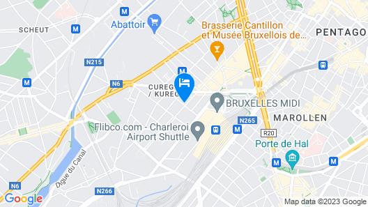 Appart'City Confort Bruxelles Centre Gare du Midi Map