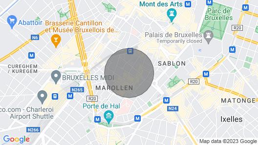 Chambre Double Avec Balcon au Cœur de Bruxelles Map