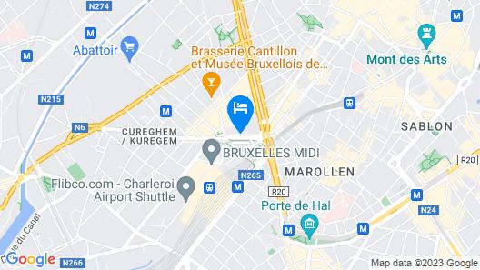 Mercure Brussels Centre Midi Map