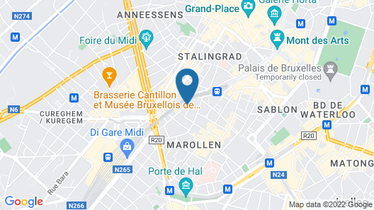 Studio in Bruxelles, With Wifi Map