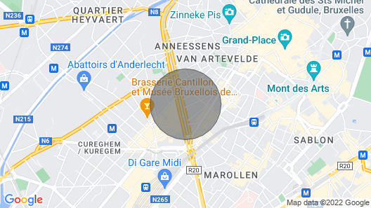 Appart Midi 33 in the heart of Brussels Map