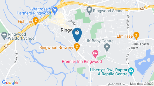 Lamb Inn Ringwood Limited Map