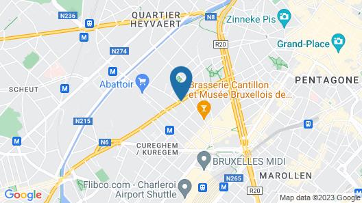 Slina Hotel Brussels Map