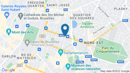 Thon Hotel EU Map