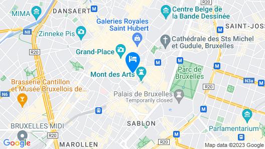 Warwick Brussels Map