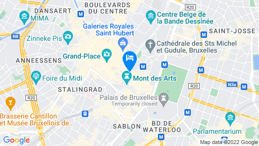 Hilton Brussels Grand Place Map