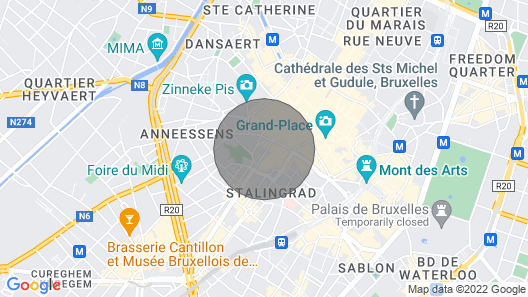 Grand Place Brussels Apartments 3 Map