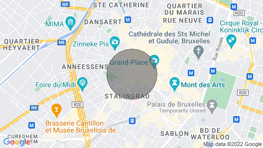Outstanding apartment - Grand Place Map