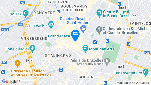 Hotel Le Quinze Grand Place Brussels Map