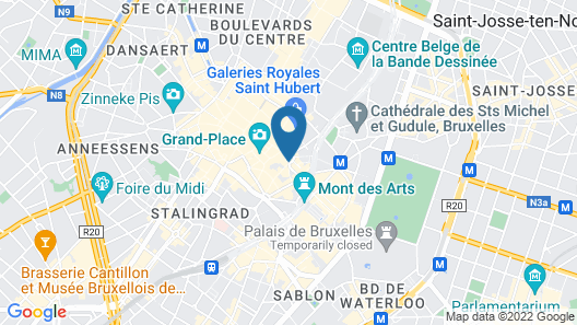 Novotel Brussels off Grand'Place Map